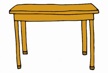 Tavolo rettangolare con cassetto lungo