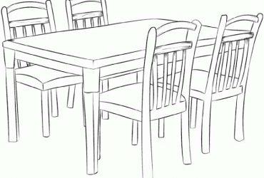6 sedie piu tavolo