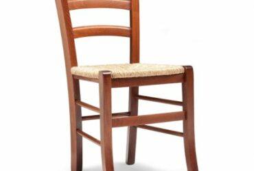 6 sedie in legno impagliate