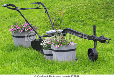 Aratro antico per giardino
